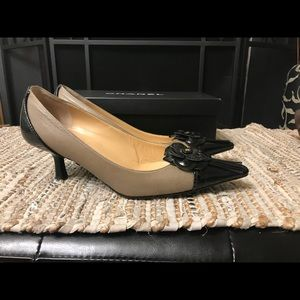 Authentic Classy Chanel Two Tones Euro 37 US 6.5